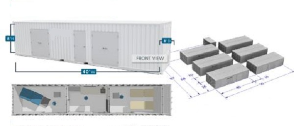 Prefabricated Quarantine Rooms For Patients Of Covid-19